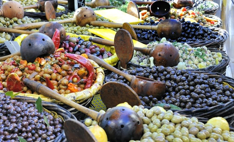 French market olive stall 2